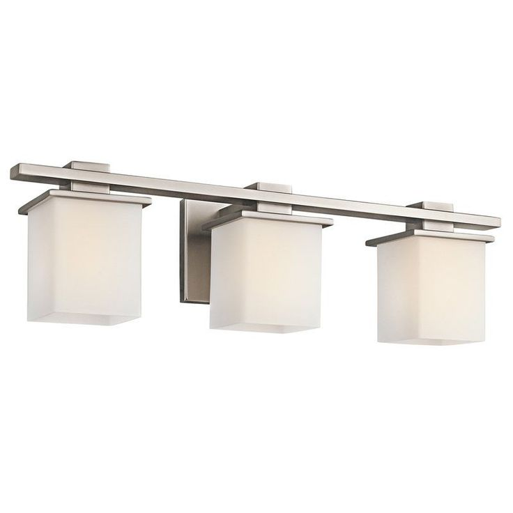 "View the Kichler 45151 Tully 3 Light 24"" Wide Vanity Light Bathroom Fixture with Satin Etched Glass Shades at Build.com."