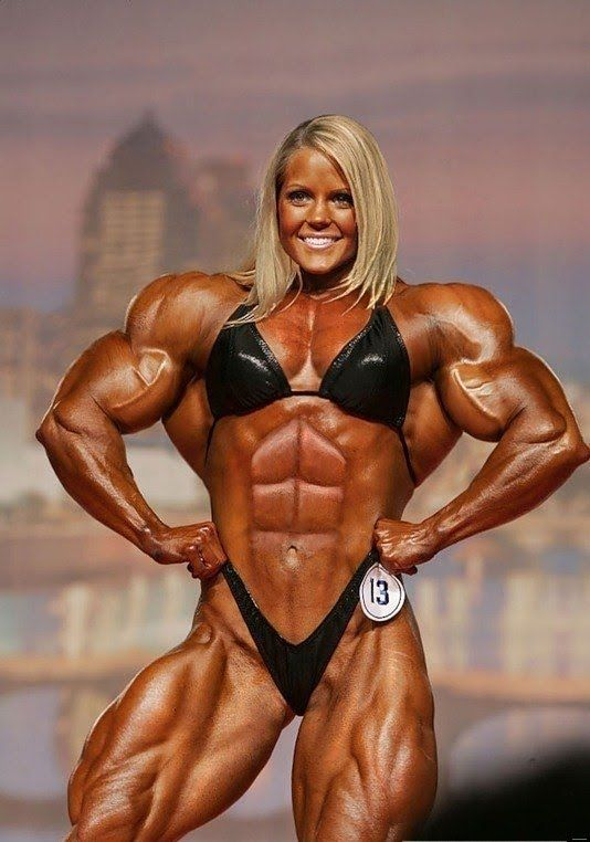 3 female bodybuilders play with each other 3