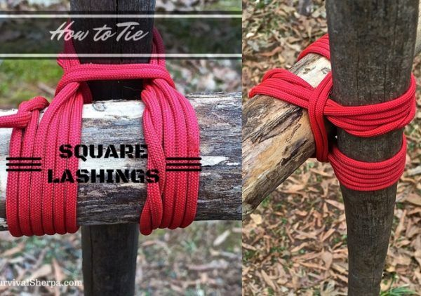 How to Tie Square Lashing Rope Knot Homesteading  - The Homestead Survival .Com
