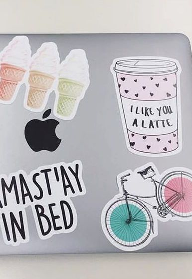 Hey laptop stickers... we like you a latte! Deck out your stuff with these adorable girly stickers from Redbubble, where you'll find stickers of all your favorite things.