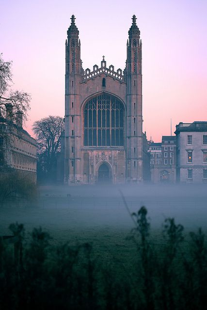 Early morning mist at Kings College Chapel. | Grantchester, as seen on Masterpiece PBS