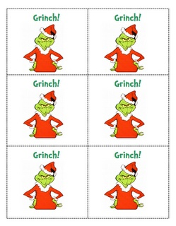 Grinch math game (like bang) to practice doubles and doubles +1