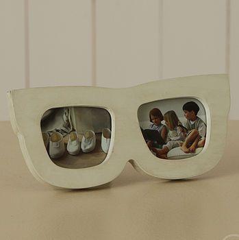 White Painted Sunglasses Photoframes