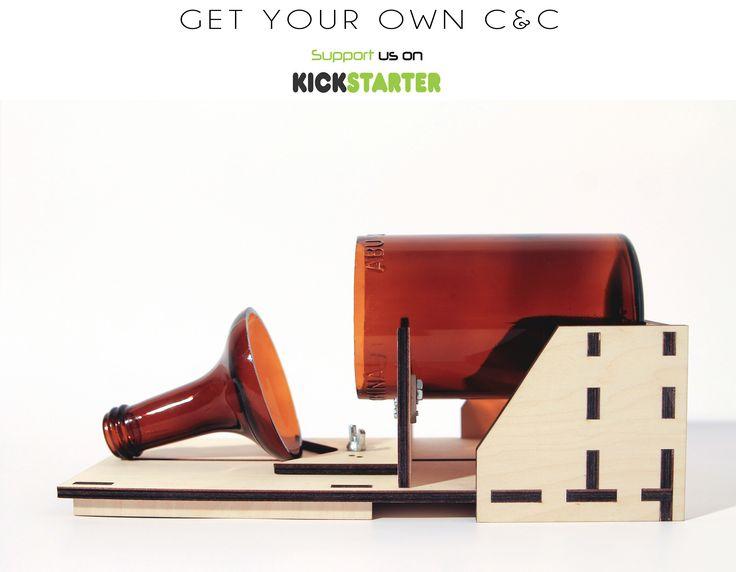 GET YOUR OWN C&C ON KICKSTARTER   https://www.kickstarter.com/projects/1968590924/candc-the-bottle-cutter #kickstarter #crowdfunding #diy #interior #design #gadgets #coolstuff #coolhunting