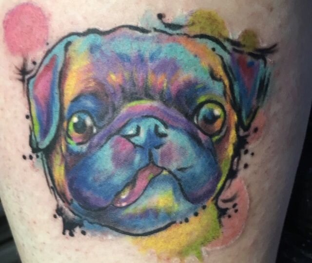 Pug Tattoo Pug Tattoo Dog Portrait Tattoo Dog Portraits