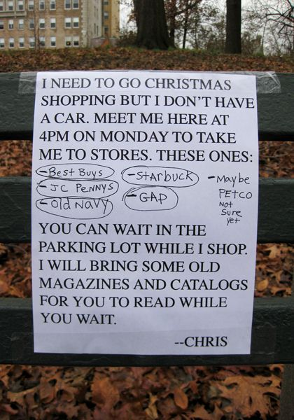 Bring some catalogs to keep you busy. You should go read all the notes from Chris!