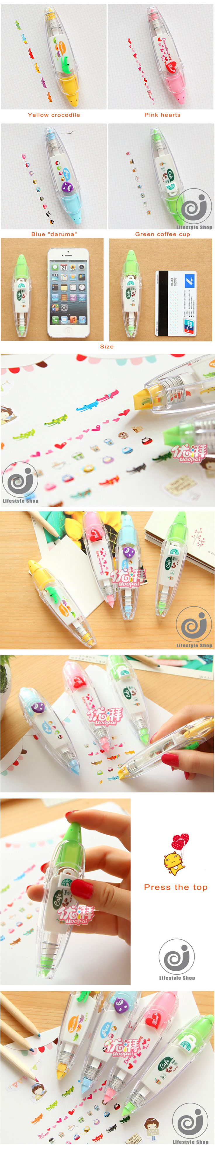 2pcs korean cute correction tape kawaii stationery for student school supplies DIY Scrapbooking Stickers-in Correction Tape from Office & School Supplies on Aliexpress.com | Alibaba Group