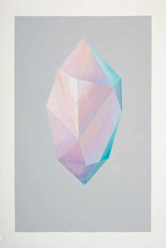 Crystal Form, acrylic on paper, by Rebecca Chaperon