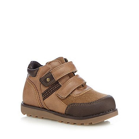 bluezoo Boys' tan rip tape walking boots   Debenhams