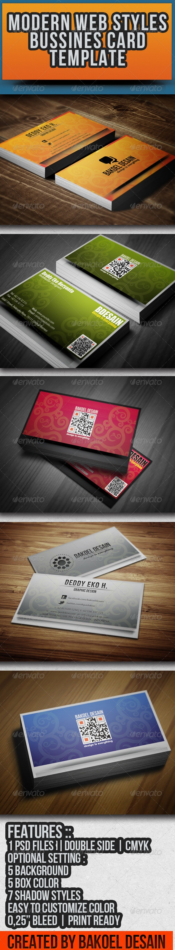 Modern Web Styles Bussines Card