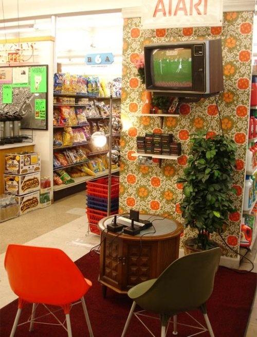 Shop Interiors •~• Atari 2600 setup... what a fun idea!