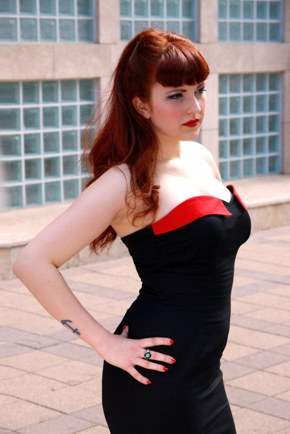 Just her hair, please. <3 <3 (Sexy Cherry-skull dress by TicciRockabilly on Etsy)