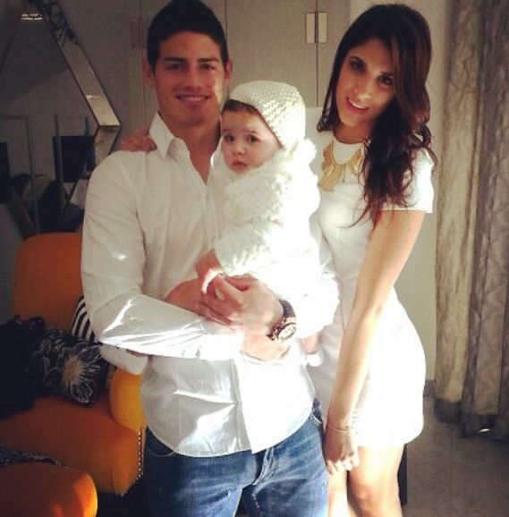 james rodriguez wife and baby - adorable family