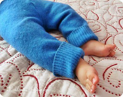Oczekując Maleństwa: Spodenki z wełnianych swetrów
