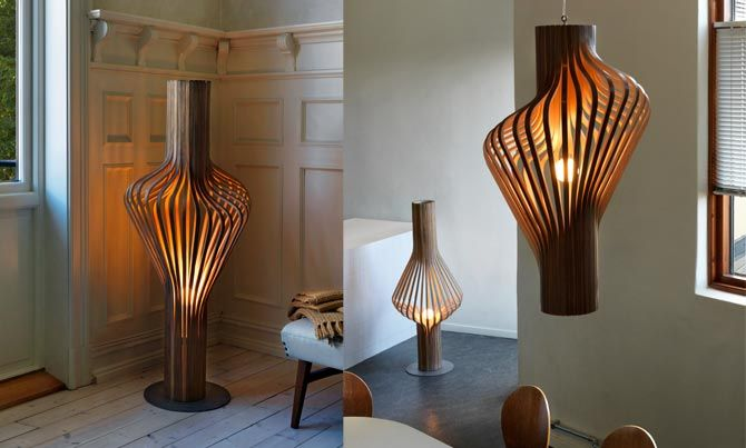 Diva lamp from Northern Lighting #Nordic #Scandinavia #wood