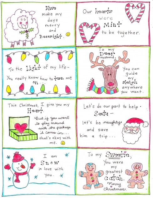 Christmas Love Notes for the Happy Hubby! - free printable from the HappyHomeFairy.com