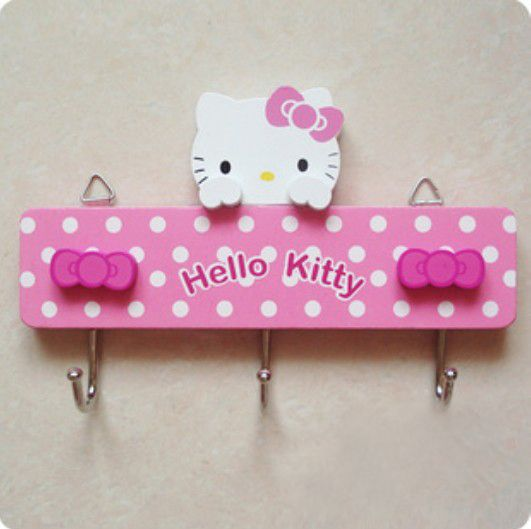 Hello Kitty Wooden Wall Hooks - Hello Kitty Stores