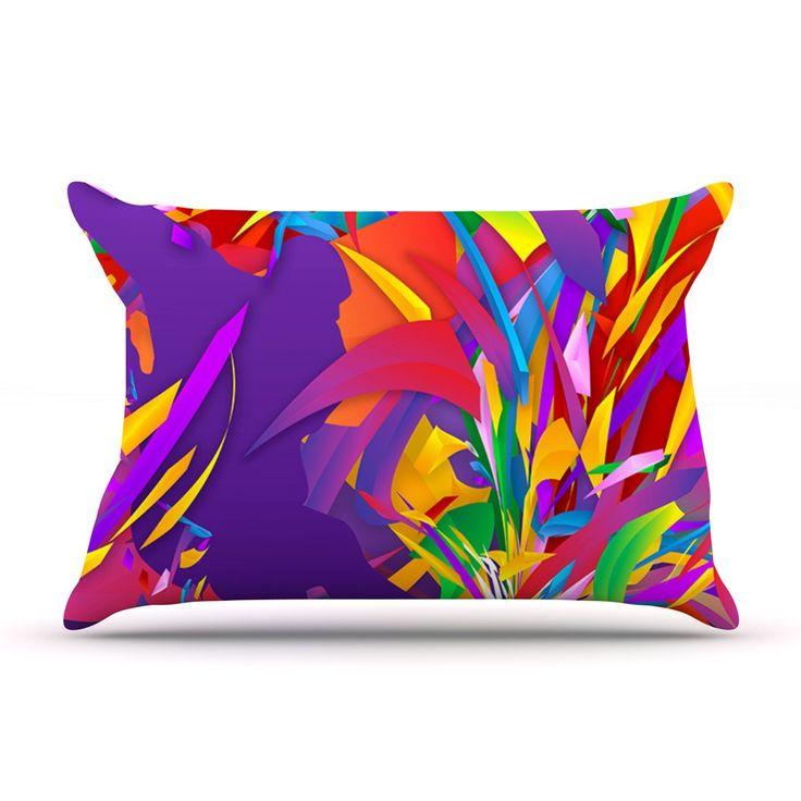 "Danny Ivan ""Shooting"" Rainbow Purple Pillow Case"