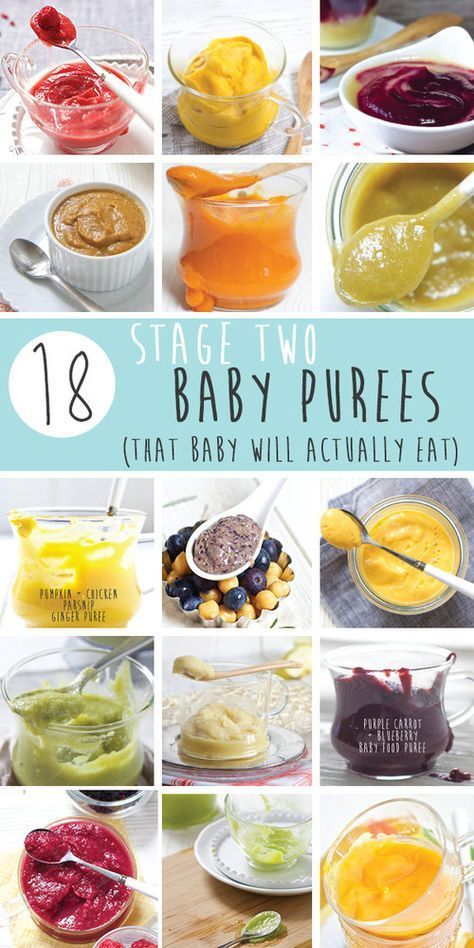 15 Stage One Baby Food Purees (4-6 Months   Baby food ...