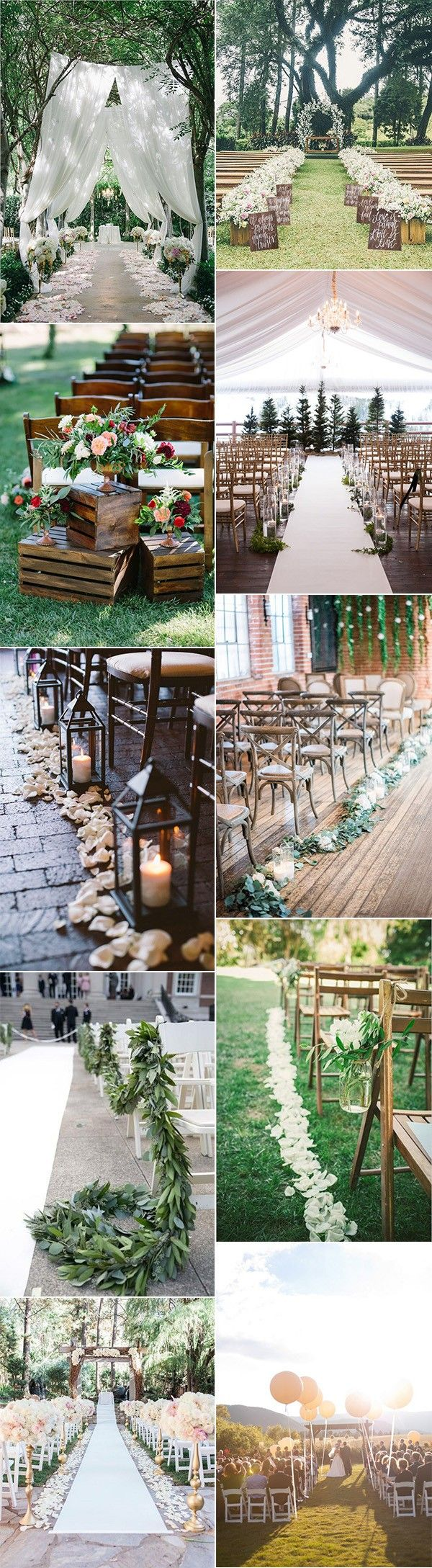 pretty wedding aisle decoration ideas for 2017 trends