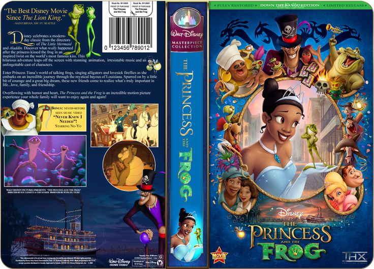 The Princess And The Frog Vhs Cover By Petitetiaras Have