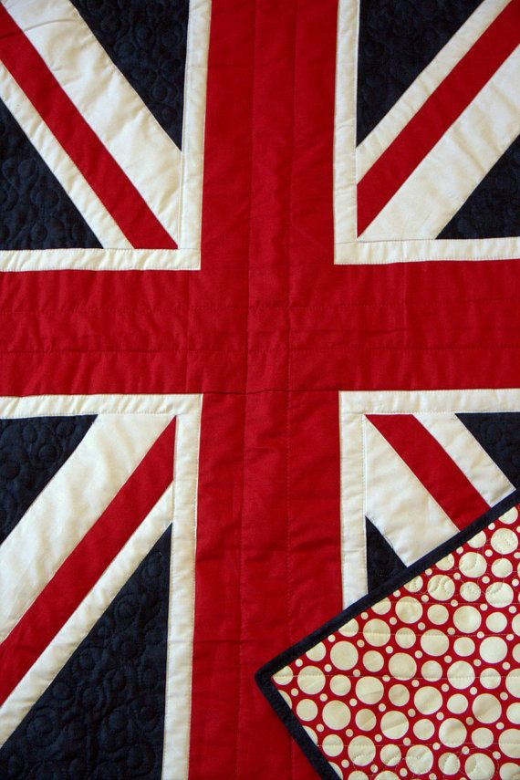Baby Quilt  British Flag  English pride for the by HouseofdeVeer, $199.00