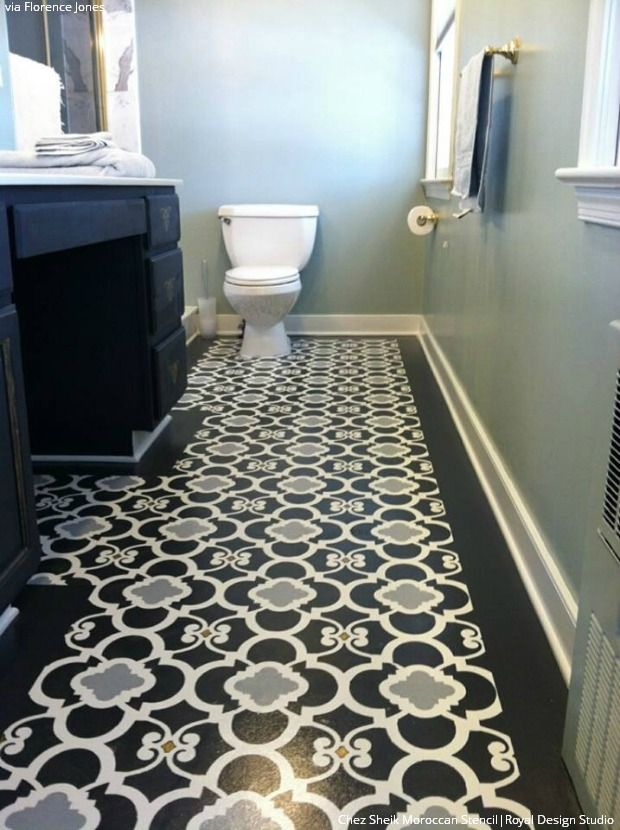 Best 25 Stenciled Floor Ideas On Pinterest Stenciled