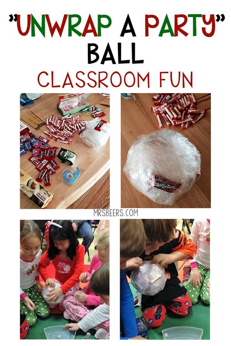Unwrap a Party Ball Classroom Party FUN!
