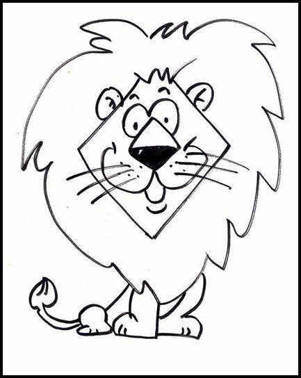 Simple Jungle Animal Coloring Pages