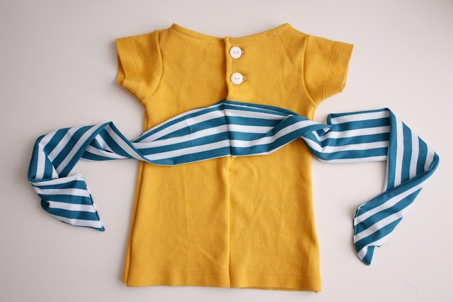 Simple baby shift dress.  A tutorial using recycled t-shirts