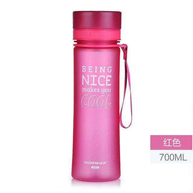 700ML My Water Bottle Sport Bike Cycling Water Bottles For Water Portable Tea Infuser Plastic Tumbler garrafa de agua