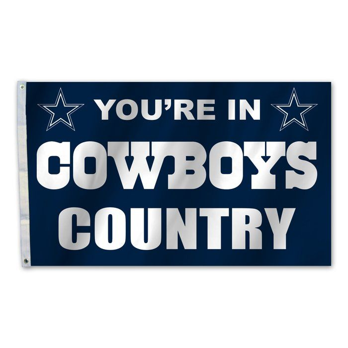 Nfl Traditional Polyester 36 X 60 In House Flag Dallas Cowboys