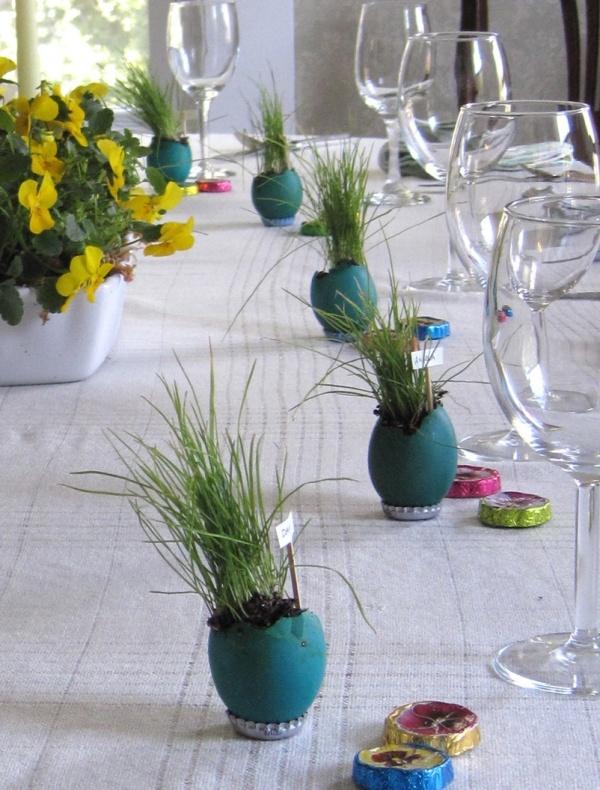 Oster deko basteln eierschale blumentopf easter for Blumentopf dekoration