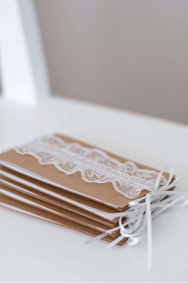 Lace and craft paper