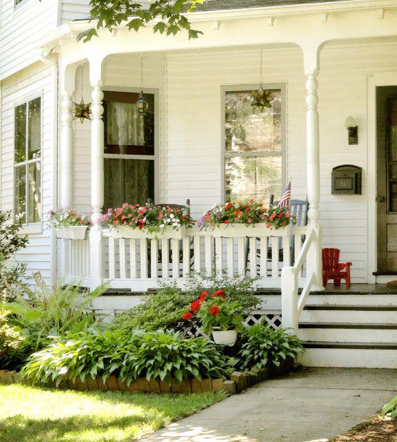 82 best cute cottage style porches images on pinterest for Cute front porches