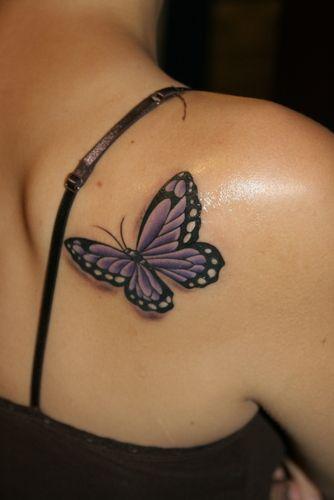 Tattoo. Colorado purple and aquamarine