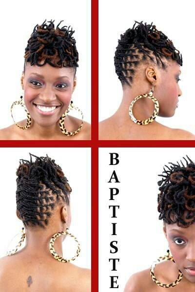 128 best images about Short loc styles on Pinterest | Dreads, Updo