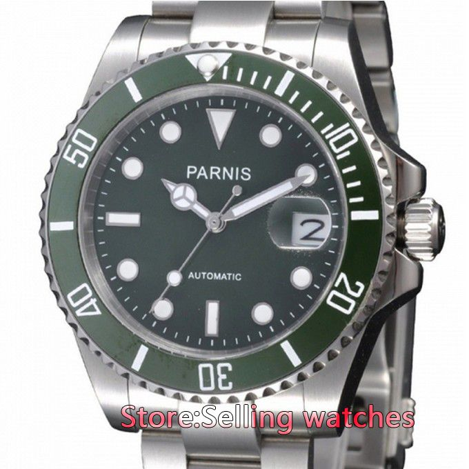 40mm Parnis Ceramic Bezel Luminous Mark Green Dial Style Automatic Watch     Tag a friend who would love this!     FREE Shipping Worldwide     Get it here ---> https://shoppingafter.com/products/40mm-parnis-ceramic-bezel-luminous-mark-green-dial-style-automatic-watch/