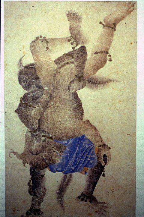 Demons wrestling, Mehmed Siyah Kalem