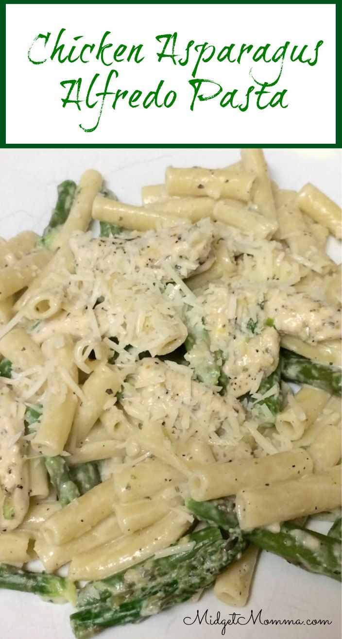 This Chicken Asparagus Alfredo is amazing, this one uses milk instead of heavy cream to cut back on the heaviness of the sauce but the taste is amazing!