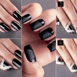 Black Nail Design - DIY