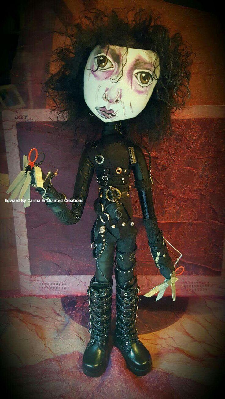 Edward Scissorhand  by Carma Enchanted dolls   . Handmade