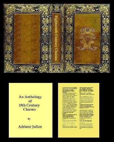 18th Century Charms is 36 pages long (including the fly leaves). It measures 1 3/16 inches (30.1625 mm)  high by 7/8 inches (22.225  mm) wide by 3/16 inch (4.7625 mm) thick. There are no illustrations.