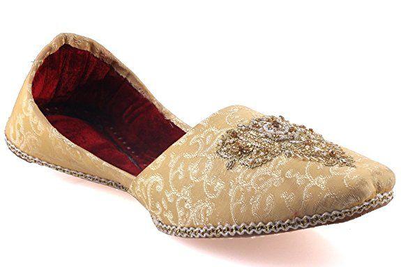 Unze Für Männer 'Egger' Adorned Flache Leder Indian Pump - GS-528: Amazon.de: Schuhe & Handtaschen