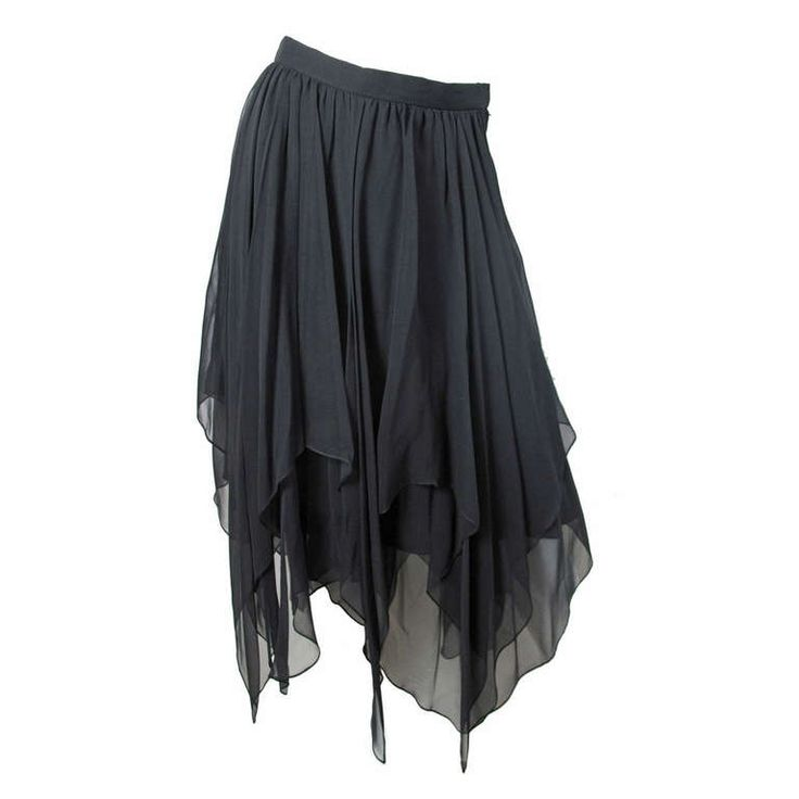 Oleg Cassini silk handkerchief skirt | From a collection of rare vintage skirts at http://www.1stdibs.com/fashion/clothing/skirts/