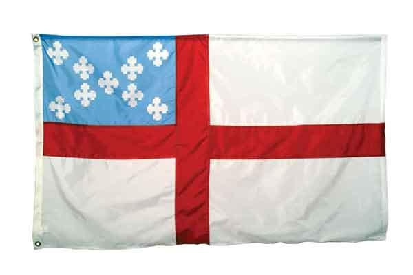 High Wind, US Made, Nylon Episcopal Flag 3x5