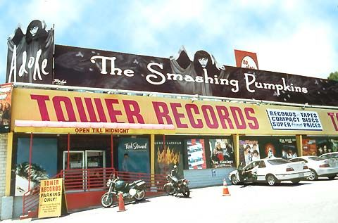 THE ORIGINAL TOWER RECORDS STORE  on Sunset Blvd., in West Hollywood, CA