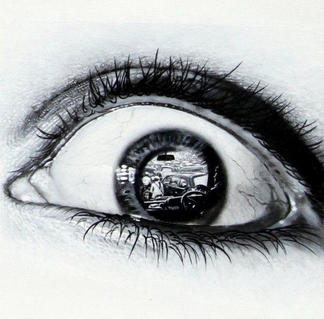 Photorealistic Paintings of Eyes