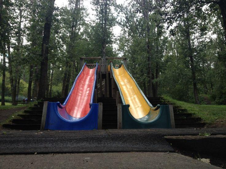 Grizzly Bear Lodge Park Edmonton - Best park in the City #YEG