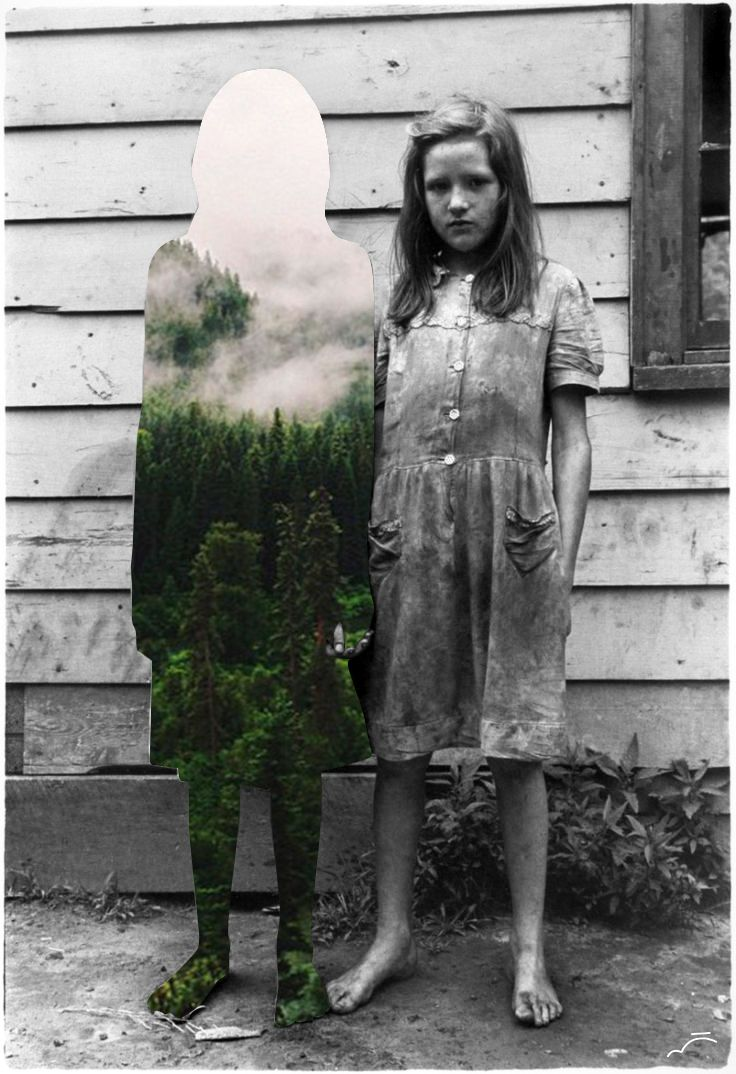 """Sadness"" by Merve Ozaslan #collage #art #digitalart #color #vintage #nature #surreal #blackandwhite #street"